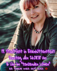 """26.08.18 ab 16 - 16:30 Uhr auf der Bühne """"zum tanzenden Löwen"""""""