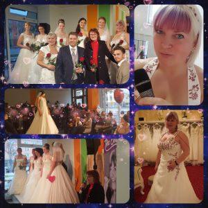Ich sang im Brautstudio Jacqueline zur Eröffnung der Modenschau. Ganz standesgemäß im Brautkleid. Emotionale Titel aber auch Schlager gab ich zum Besten