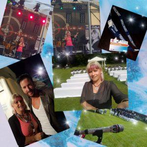 Am Nachmittag begleiteten wir eine Trauung unter freiem Himmel und Abend stand ich beim Stadtfest auf der Bühne