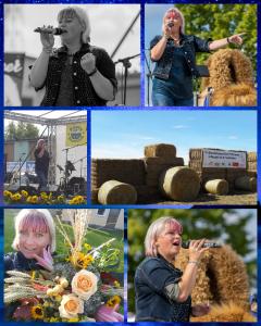 Schlager Mix Programm auf der Bühne der Agrargenossenschaft