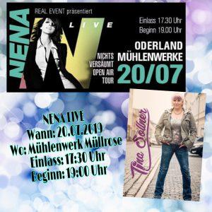 Macht euch ein dickes Kreuz im Kalender, am 20.07.2019 Stehe ich im Vorprogramm von NENA auf der Bühne in Müllrose