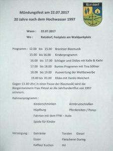 Programmablauf 22.07.2017